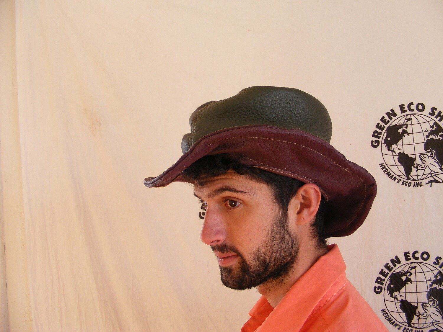 Mens Leather Top Hat made in USA repurposed