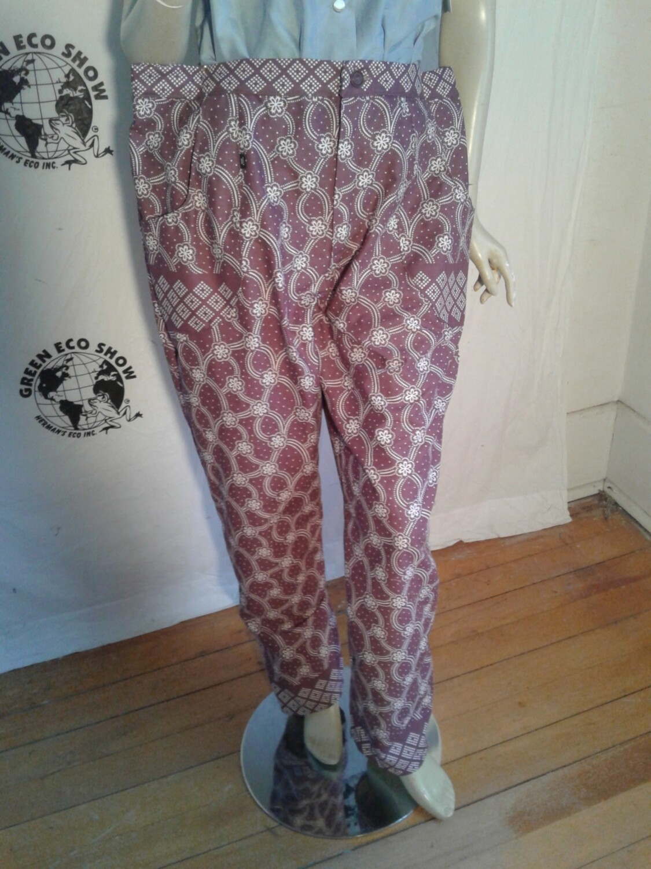 Womens plaid high waisted pant XL 39 w Hermans