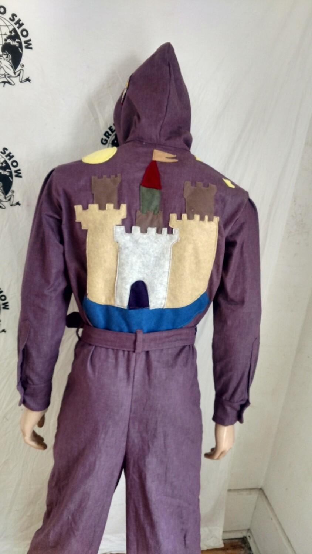 Mens Jumpsuit m -l Castle applique hoody