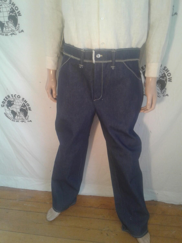 "Hermans Eco jeans vintage denim 38"" 33 made in USA"