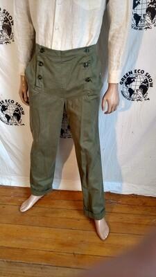 Olive Steampunk flap pants Steampunk