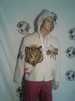 Hip hop grafitti jacket xl airbrush jester