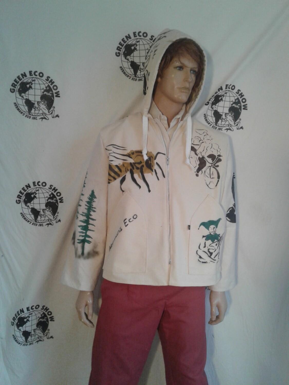 Hip Hop hoody Jacket Grafitti XL  Hermans Eco
