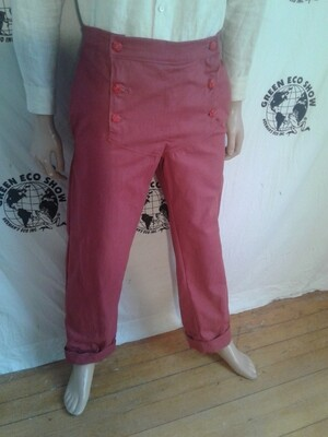 Red Steampunk Pants 33 Hermans USA