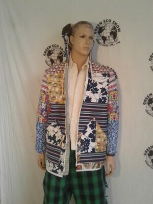 Mens patchwork hoodie Jacket Hermans L