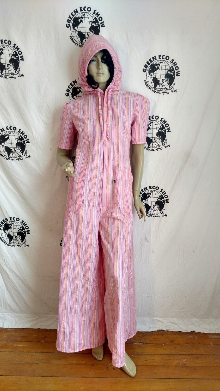 Hermans Eco womens Jumpsuit striped USA Medium