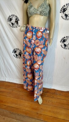 Womens bell bottoms pants Nautical ships L