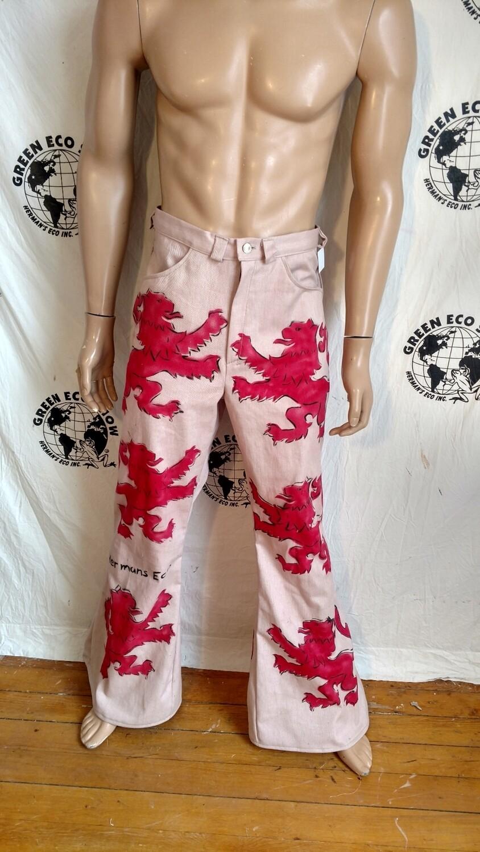 Lion crest bell bottoms jeans 32 Hermans Eco