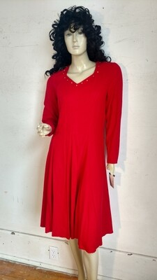 Red silk dress Hermans med USA