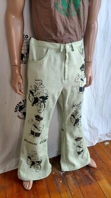Chefs pants jeans linen 37 X 33 USA