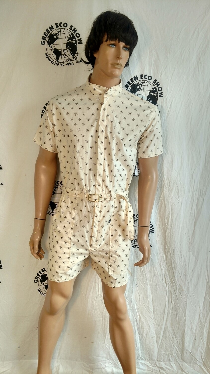 Mens romper pinwheel m to L Hermans Eco USA