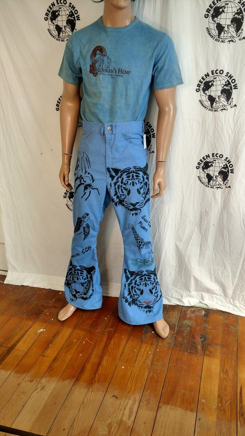 Tiger giraffe turtle Jeans 32 X 32 Hermans Eco USA
