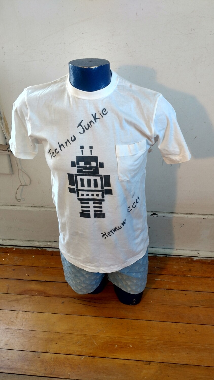 Robot t shirt S Hermans Eco Techno Junkie