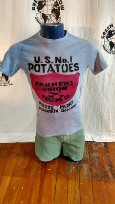 Potato t shirt med grafitti stat of lib poem Hermans
