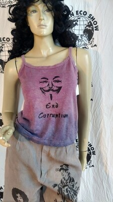 Anonymous end Corruption tank top Hermans Hemp Med