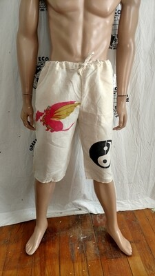 Hermans Hemp drawstring beach shorts med with Graphics