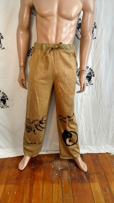 Mens drawstring organic cotton pants S to M  USA