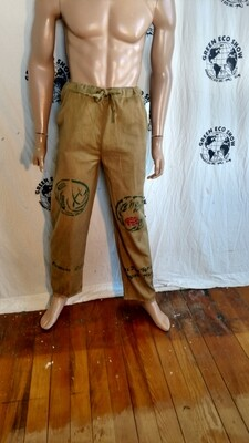 Mens drawstring S to M  pants Organic Cotton