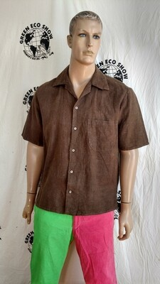 Hermans Hemp mems short sleeve Shirt XL USA