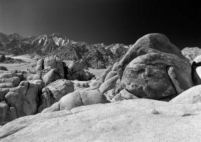 Sierra Nevada Mountains from Lone Pine - California