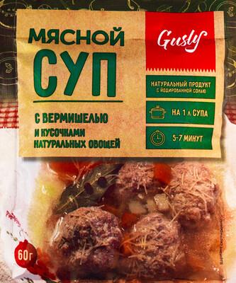 Суп мясной с вермишелью и кусочками овощей