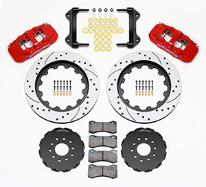 C4 Corvette (84-96) Forged Narrow Superlite 6R Big Brake Front Brake Kit (Hat)-RED