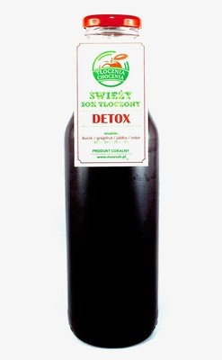 DETOX 750ml Świeży Sok warzywno-owocowy burak /imbir / jabłko / grejpfrut