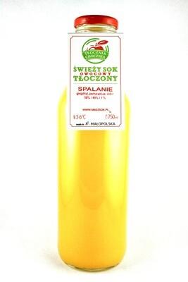 SPALANIE 750ML Świeży Sok owocowy grejpfrut/imbir/pomarańcza