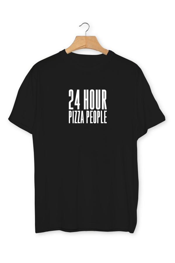 24 HOUR PIZZA PEOPLE - T-SHIRT - Black 00003