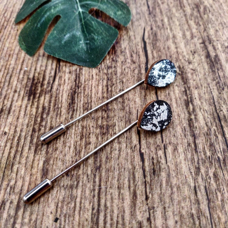 BLACK & SILVER: staafjes zilver