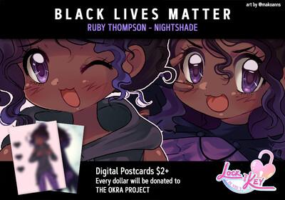 Lock and Key - Ruby Charity Postcard