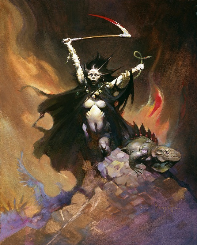 Woman With A Scythe (No - 19)