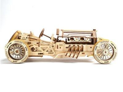 """ხის მექანიკური მოდელი """"U-9 გრან–პრის სპორტული ავტომობილი"""""""