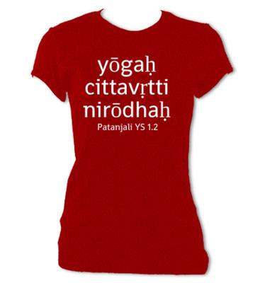yōgaḥ cittavṛtti nirōdhaḥ T-Shirt (Women's) - FREE SHIPPING!