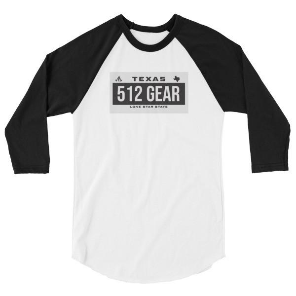 Plated 3/4 sleeve raglan shirt