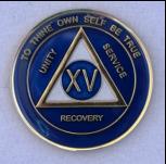 Teal Blue Tri-plate Medallion Years 1-35