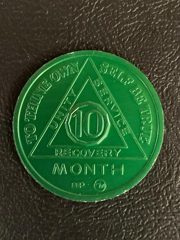 10 month aluminum medallion