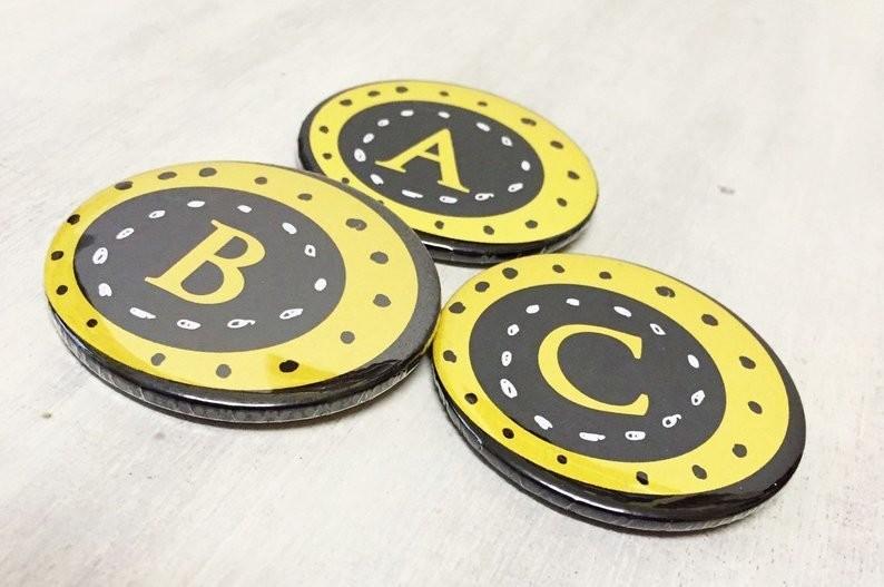 Alphabet Pin Badge