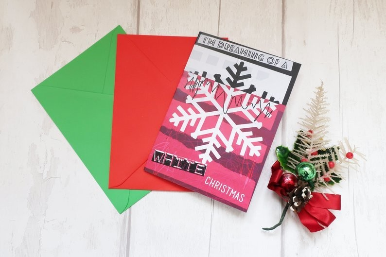 Alternative snowflake Christmas card