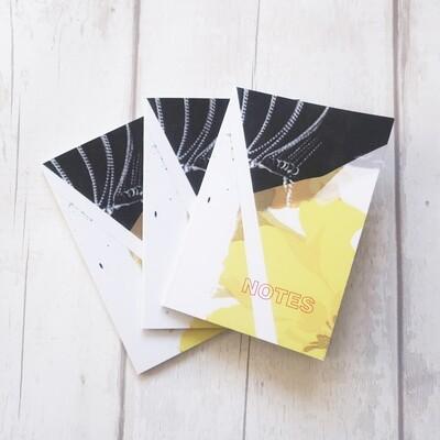Vintage design yellow wallpaper notebook