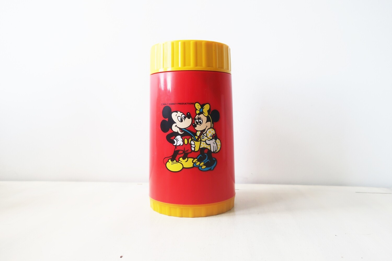 Vintage Disney Mickey & Minnie Mouse plastic flask by Bluebird