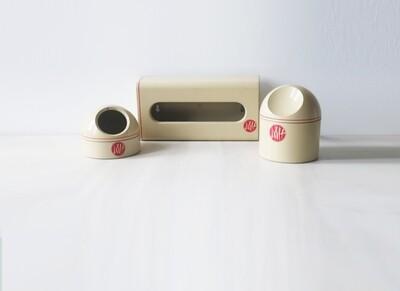 1970s Makio Hasuike for Avon plastic bathroom set Gedy