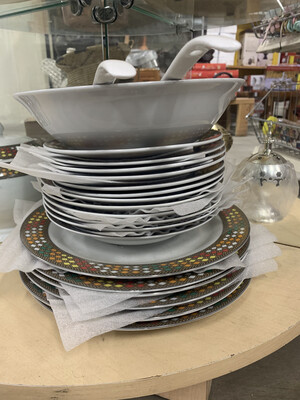 Ethiopian / Eritrean Dinner Plate Set የምግብ ሳህን , Tílét (ጥለት) Edition 20 Pieces