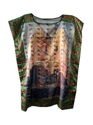 የላሊበላ ስእል ያለበት የሴቶች አላባሽ t-shirt for women