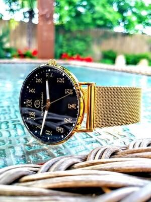 የወንዶች የግዕዝ ቁጥር ያለው ሰዓት  Ethiopian Gentleman's Stainless steel Japan Quartz watch