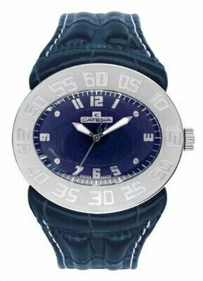 Swisspace S916LEQ67 - Orologio da polso da uomo, cinturino in pelle colore blu