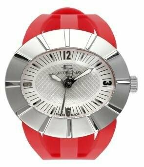 Swisspace S906LAI09 - Orologio da polso da uomo, cinturino in plastica colore rosso
