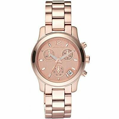 Michael Kors Pista Rose Oro Tono Cronografo Ladies donna Orologio MK5430