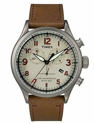 Timex Orologio Cronografo Quarzo Uomo con Cinturino in Pelle TW2R38300