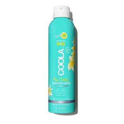 Big Size (236ml) Classic Body Organic Sunscreen Spray SPF 30 - Pina Colada